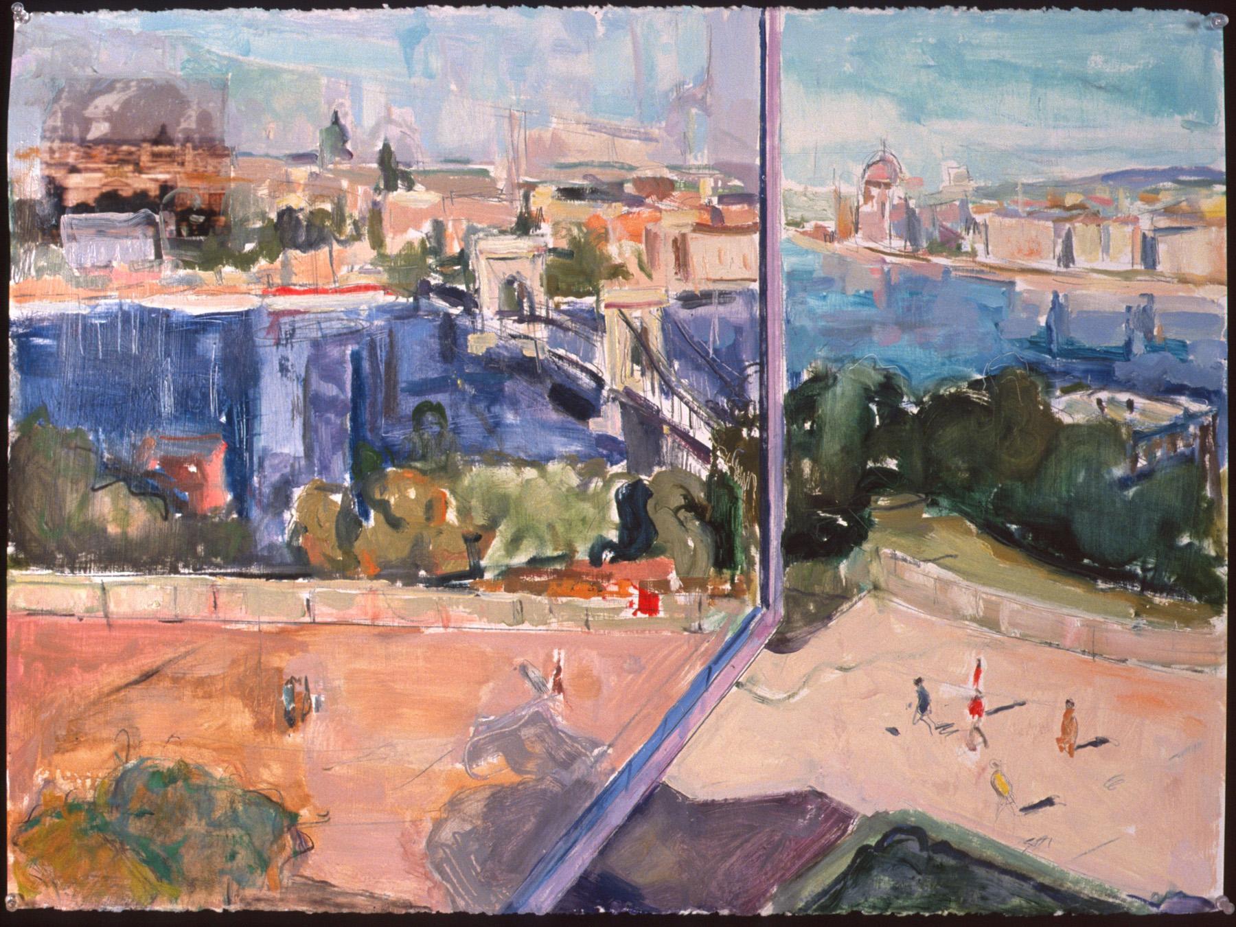 1420-Budapest Reflections-22x30