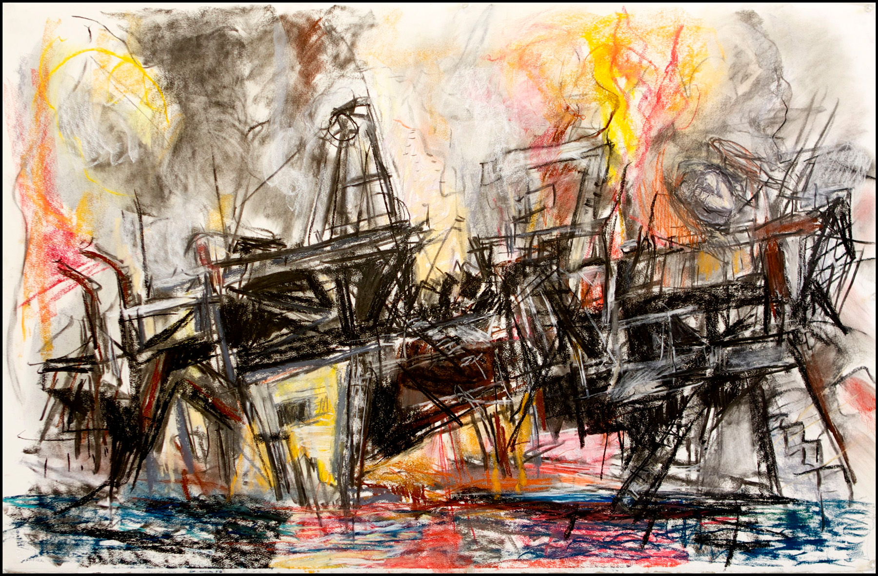 1597-Gulf Oil Spill with Melancholia -26x40