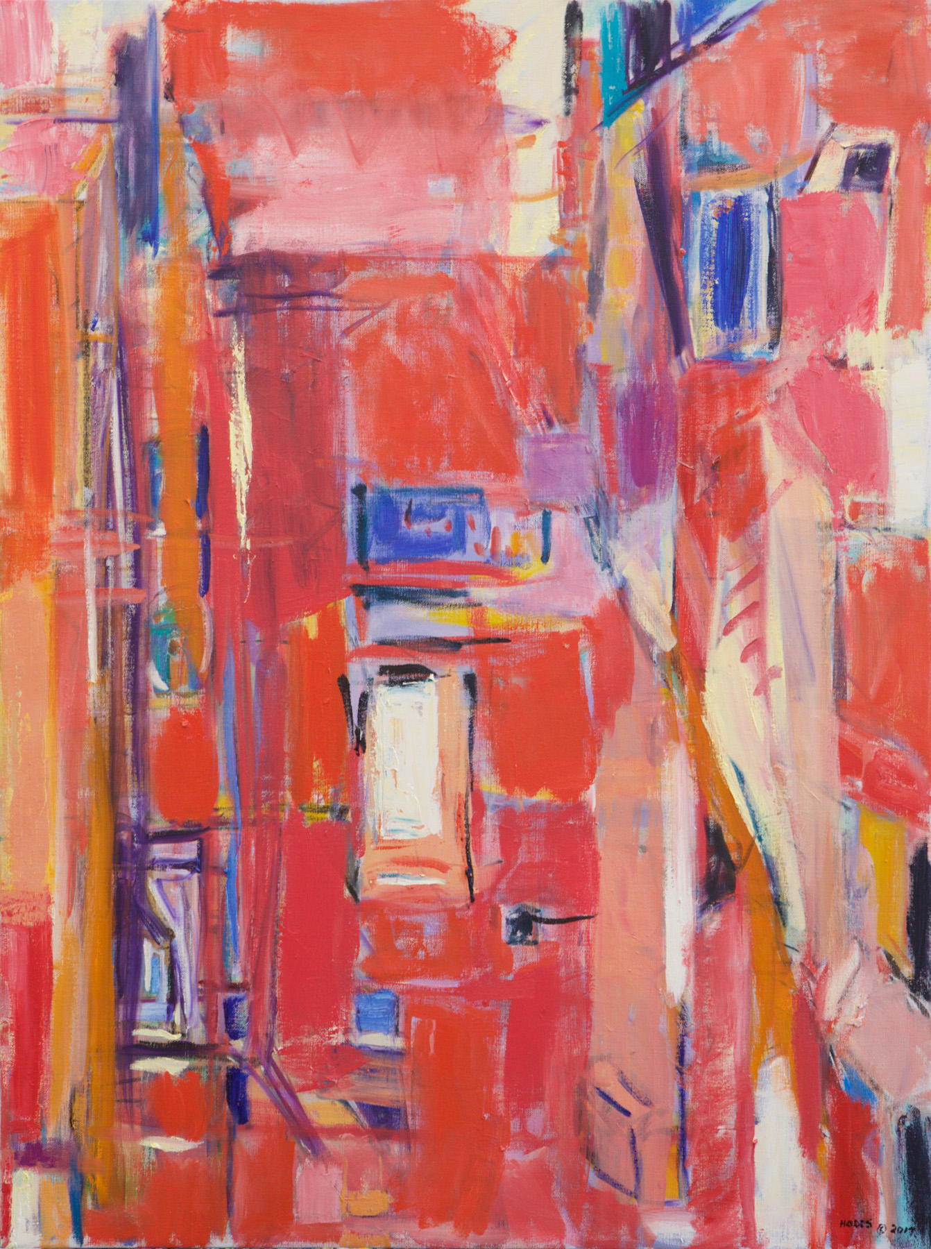 3186-City Reds and Blue-36x27