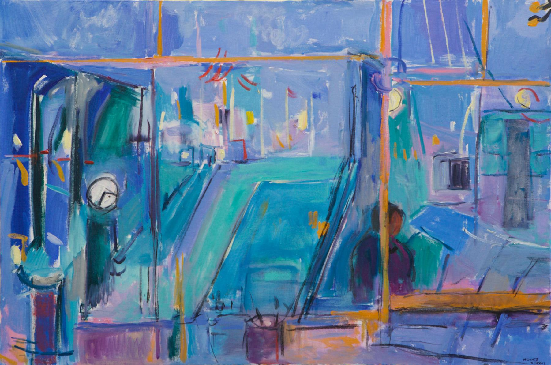 3194-Studio View in Blue-24x36